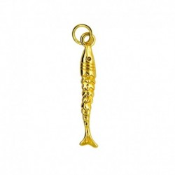 Fish Charm Gold Plated 24K...