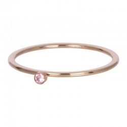 BAGUE PINK 1 STONE CRYSTAL...