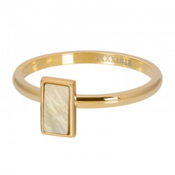 BAGUE YELLOW SHELL STONE OR...