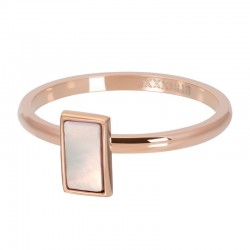 BAGUE PINK SHELL STONE OR...