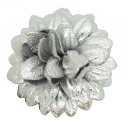 SILVER LEATHER FLOWER SMALL...
