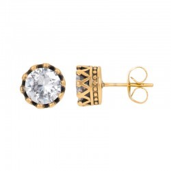 EAR STUDS CROWN, OR - IXXXI