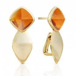 EARRINGS EDGE GOLD DOUBLE...