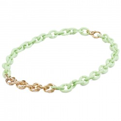 COLLIER MINT GREEN ENTANGLE...