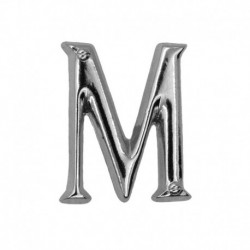 Letter M silver 20mm -...