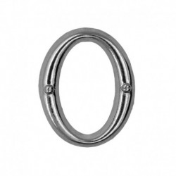 Letter O silver 20mm -...