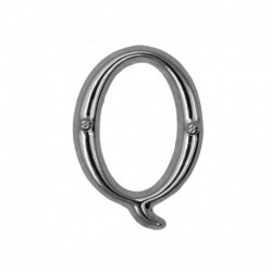 Letter Q silver 20mm -...