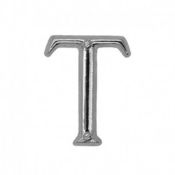 Letter T silver 20mm -...