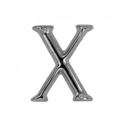 Letter X silver 20mm -...